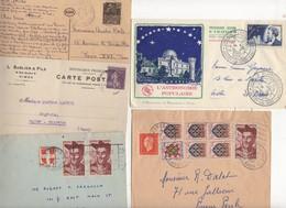 10 Lettres Et Cartes + 1 Cadeau Prix De Départ Sans Réserve 1€ Voir 2 Scan.  Bonnes Enchère     Lot Delc Vente 3, 1 - 1921-1960: Période Moderne