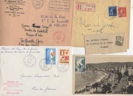 10 Lettres Et Cartes + 1 Cadeau Prix De Départ Sans Réserve 1€ Voir 2 Scan.  Bonnes Enchère     Lot Delc Vente 3, 2 - Marcophilie (Lettres)