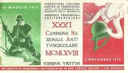 """6069 """" ERINNOFILI-XXXI CAMPAGNA NAZIONALE ANTITUBERCOLARE-1968-LIBRETTO DI 10 FRANCOBOLLI"""" - Erinnofilia"""