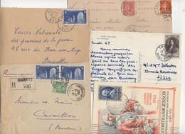 10 Lettres Et Cartes + 1 Cadeau Prix De Départ Sans Réserve 1€ Voir 2 Scan.  Bonnes Enchère     Lot Delc Vente 3, 4 - Marcophilie (Lettres)