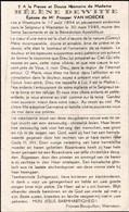 Westoutre, Warneton, 1949, Helene Dewitte, Van Hoecke - Devotieprenten