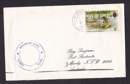 Gilbert & Ellice Islands: Cover To Australia, 1976, 1 Stamp, Lady, Leaves, Cancel Washington Island (minor Damage) - Îles Gilbert Et Ellice (...-1979)