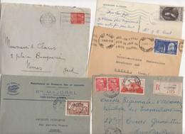 10 Lettres Et Cartes + 1 Cadeau Prix De Départ Sans Réserve 1€ Voir 2 Scan.  Bonnes Enchère     Lot Delc Vente 3, 5 - Marcophilie (Lettres)