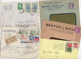 10 Lettres Et Cartes + 1 Cadeau Prix De Départ Sans Réserve 1€ Voir 2 Scan.  Bonnes Enchère     Lot Delc Vente 3, 6 - Marcophilie (Lettres)