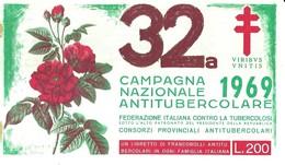 """6070 """" ERINNOFILI-32a CAMPAGNA NAZIONALE ANTITUBERCOLARE-1969-LIBRETTO DI 10 FRANCOBOLLI"""" - Vignetten (Erinnophilie)"""
