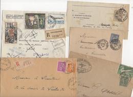 10 Lettres Et Cartes + 1 Cadeau Prix De Départ Sans Réserve 1€ Voir 2 Scan.  Bonnes Enchère     Lot Delc Vente 3, 7 - Marcophilie (Lettres)