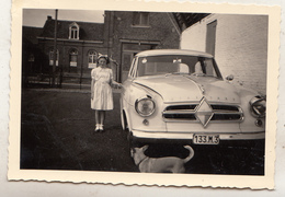 Old Timer - Fillette - Chien - Girl - Dog - Photo 6 X 9 Cm - Automobile