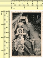 1939 Yugoslav State Railways JDZ REAL PHOTO People On Train Tank Men Guys Boy Abstract OLD VINTAGE ORIGINAL SNAPSHOT - Trains