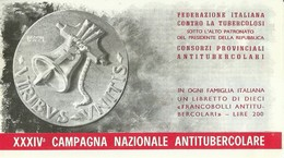 """6072 """" ERINNOFILI-XXXIV CAMPAGNA NAZIONALE ANTITUBERCOLARE-1971-LIBRETTO DI 10 FRANCOBOLLI"""" - Erinnofilia"""