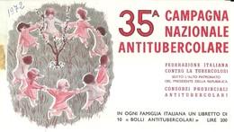 """6073 """" ERINNOFILI-35A CAMPAGNA NAZIONALE ANTITUBERCOLARE-1972-LIBRETTO DI 10 FRANCOBOLLI"""" - Vignetten (Erinnophilie)"""