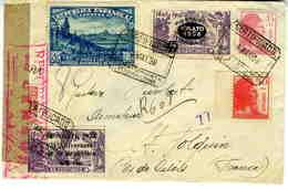 ESPAÑA 1938 CARTA CERTIFICADA  FRANQUEO A VER ! EL661 - 1931-Hoy: 2ª República - ... Juan Carlos I