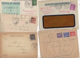 10 Lettres Et Cartes + 1 Cadeau Prix De Départ Sans Réserve 1€ Voir 2 Scan.  Bonnes Enchère     Lot Delc Vente 3, 12 - Marcophilie (Lettres)