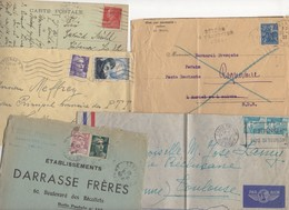10 Lettres Et Cartes + 1 Cadeau Prix De Départ Sans Réserve 1€ Voir 2 Scan.  Bonnes Enchère     Lot Delc Vente 3, 13 - Marcophilie (Lettres)