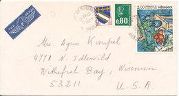 France Air Mail Cover Sent To USA Niederbronn 10-12-1977 - Airmail