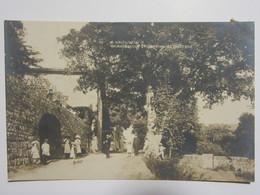 Cpa, Carte Photo, Trés Belle Vue Animée, LA LOUVESC, Grange Neuve Fontaine Et Château - La Louvesc
