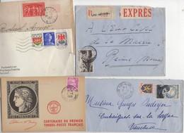 10 Lettres Et Cartes + 1 Cadeau Prix De Départ Sans Réserve 1€ Voir 2 Scan.  Bonnes Enchère     Lot Delc Vente 3, 15 - 1921-1960: Période Moderne