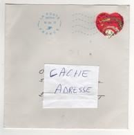 """Beau Timbre , Stamp  """" Coeur  : Hermès """" Sur Lettre , Enveloppe , Cover  Du 18/06/2013 - Lettres & Documents"""