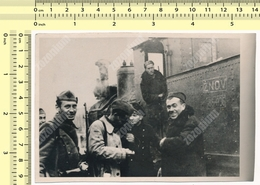 1950's VINTAGE REPRINT PHOTO Yugoslav Partisan Soldiers ZNOV National Liberation Army Railways Locomotive Train Military - Trains