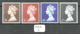 GRA YT 487/490 En XX - 1952-.... (Elizabeth II)