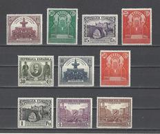 ESPAGNE.  YT  N° 512/521  Neuf *  1931 - 1931-Hoy: 2ª República - ... Juan Carlos I