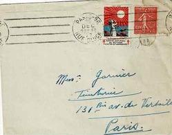 TP  N° 199 Avec Vignette Lutte Contre La Tuberculose Postée De Paris 96 - Marcophilie (Lettres)