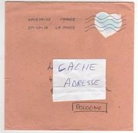 """Beau Timbre , Stamp  """" Coeur  : Courrèges """" Sur Lettre , Enveloppe , Cover  Du 27/10/2016 - Lettres & Documents"""