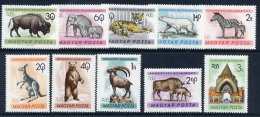 HUNGARY 1961  Budapest Zoo Set MNH / **.  Michel 1727-36 - Nuevos