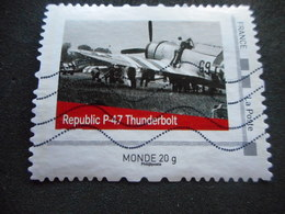 "MonTimbreaMoi "" - France - Avion ""REPUBLIC P47 THUNDERBOLT"" - Personnalisés (MonTimbraMoi)"
