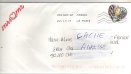 """Beau Timbre , Stamp  """" Coeur  : Balmain """" Sur Lettre , Enveloppe , Cover  Du 20/11/2017 - Lettres & Documents"""