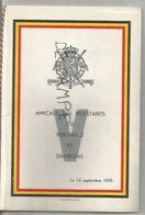Amicale Des Résistants De Péruwelz Et Environs Le 13 Septembre 1970 - Menus
