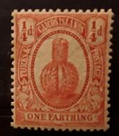 TURKS ET CAIQUES / CAICOS ISLANDS, 1909, Yvert No 47, 1 F Vermillon CACTUS , Neuf * MH TB - Sukkulenten