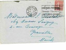 TP  N° 224 Seul Sur Enveloppe De Paris 25 - 1921-1960: Moderne