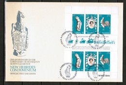 NEW HEBRIDES---British    Scott  # 258 VF USED SHEETLET On FIRST DAY COVER (FDC) (FF-52) - English Legend
