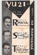 QSL Cards - YU2I.- YU 2 I - Yugoslavia  - Zagreb - Croatia - - Radio Amatoriale