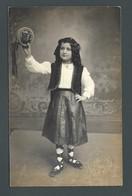 BESANCON Blanche BRISON Dans Son Déguisement écrivant à Son Institutrice PHOTO Carte - Te Identificeren