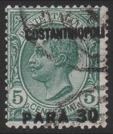 LEVANTE - COSTANTINOPOLI - Francobollo D'Italia 1901/20: 30 Pa. Su 5 C. Verde (81) - 1923 - Oficinas Europeas Y Asiáticas