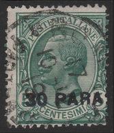 LEVANTE - COSTANTINOPOLI - Francobollo D'Italia 1901/20: 30 Pa. Su 5 C. Verde (81) / 7a Emissione Locale - 1922 - Oficinas Europeas Y Asiáticas