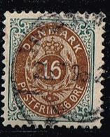 Dänemark 1875,Michel# 27 IIYBb O - Usati