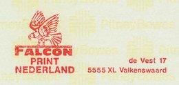 Meter Proof / Test Strip Netherlands 1983 Bird - Falcon - Oiseaux