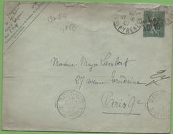 Entier Semeuse Lignée 15c Vert Sur Lettre (147*112mm) E4 Taxe Réduite Bayonne à Paris Cachet Paris Distribution 17/10/07 - Entiers Postaux