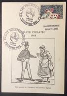 CM778 Philatec 1403 Rallye Wissembourg Paris Danemark 11/6/1964 Carte Maximum - Maximum Cards