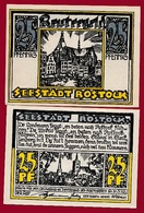 Allemagne 1 Notgeld 25 Pfenning Stadt Rostock (Série Complète-10-25-50)  Dans L 'état N °5209 - Collections