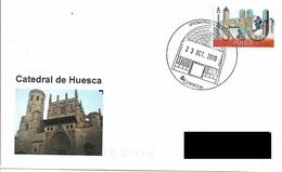 SPAIN. POSTMARK. HUESCA CATHEDRAL. 2019 - España