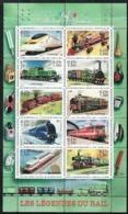 Année 2001 - Feuillet N° 38 - T-P N° 3405 à 3414 - Collection Jeunesse : Les Légendes Du Rail : Locomotives - Nuovi