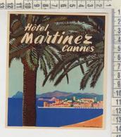 ETIQUETTE LABEL CANNES HOTEL MARTINEZ - Pubblicitari