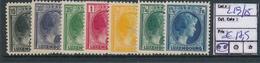 LUXEMBOURG PRIFIX 219/225 MNH - 1926-39 Charlotte De Profil à Droite