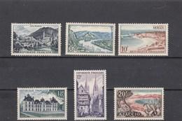 France - 1954 - N° YT 976/81** - Série Touristique - Unused Stamps