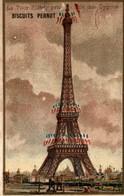 Chromo BISCUITS PERNOT La Tour Eiffel Prise De L Ile Des Cygnes - Pernot