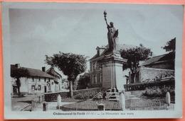 CARTE CHATEAUNEUF LA FORET - 87 - LE MONUMENT AUX MORTS - SCAN RECTO/VERSO -11 - Chateauneuf La Foret
