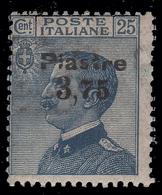 """LEVANTE - COSTANTINOPOLI - 6a Emissione Locale Francobollo D'Italia """"Michetti"""" 1908: 3,75 Pi. Su 25 C. Azzurro - 1922 - Oficinas Europeas Y Asiáticas"""